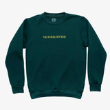 Big Green Embroidered Crew