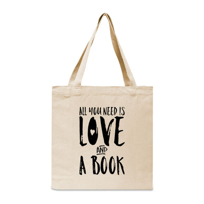 All You Need Is Love... And A Book Canvas Book Tote Bag