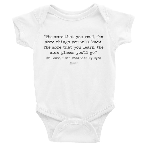 Design Your Own Book Quote Short Sleeve Baby Bodysuit