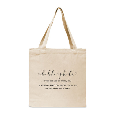 Bibliophile Canvas Book Tote Bag
