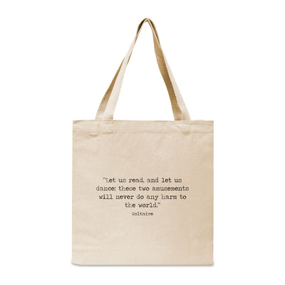 Design Your Own Book Quote Canvas Tote Bag