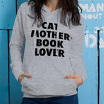 Cat Mother, Book Lover Hoodie