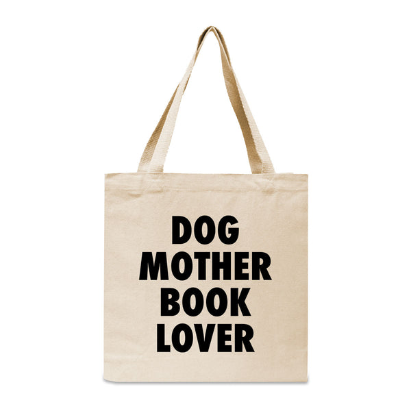 Dog Mother Book Lover Canvas Book Tote Bag