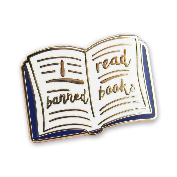 I Read Banned Books Enamel Pin Badge