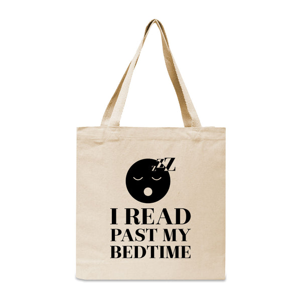 I Read Past My Bedtime Canvas Book Tote Bag
