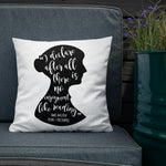 Jane Austen's Pride & Prejudice Book Quote Literary Pillow
