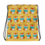 Reading Fox Kids Book Drawstring Library Bag