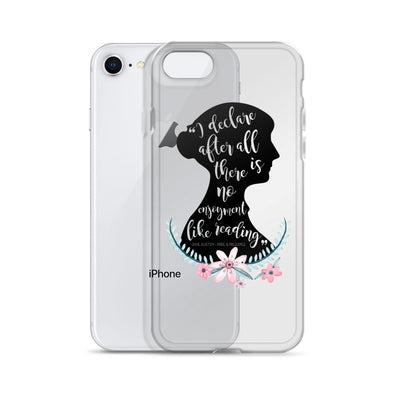 Jane Austen - Pride and Prejudice Floral Quote iPhone Case