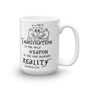 Cheshire Cat Quote Literary Mug