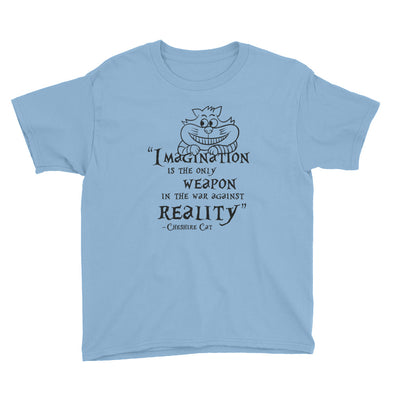 Cheshire Cat Quote Youth Short Sleeve T-Shirt