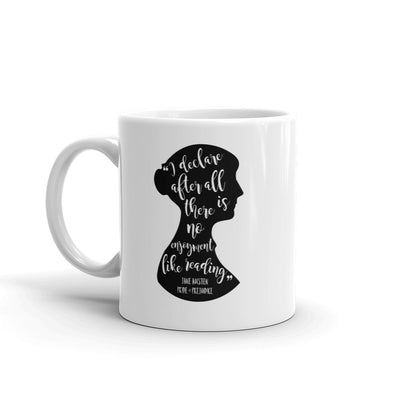 Jane Austen Silhouette - Pride and Prejudice Quote Literary Mug