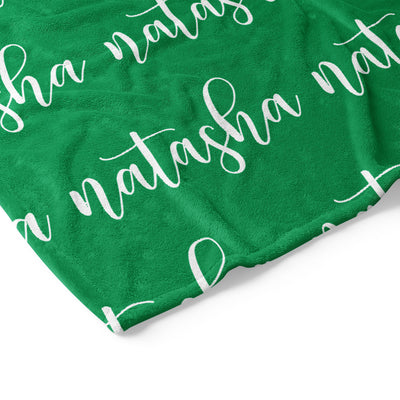 Script Name Personalized Blanket