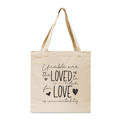 Emily Dickinson Quote Canvas Book Tote Bag
