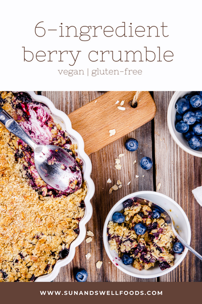 6-Ingredient Berry Crumble