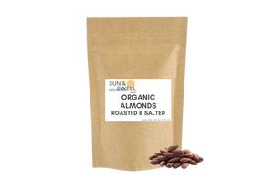 Organic Almonds - Roasted & Salted (1 lb)