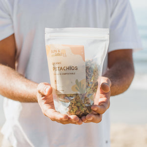 Organic California Pistachios - Shelled, Roasted, and Salted