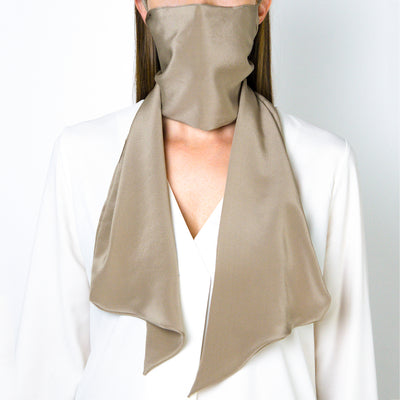 The Parisian Face Scarf ~ Beige