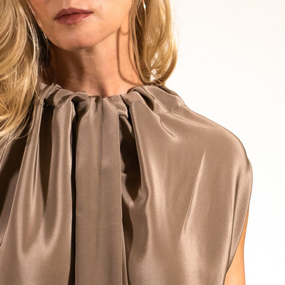 clothing made in the usa beige silk top adalei