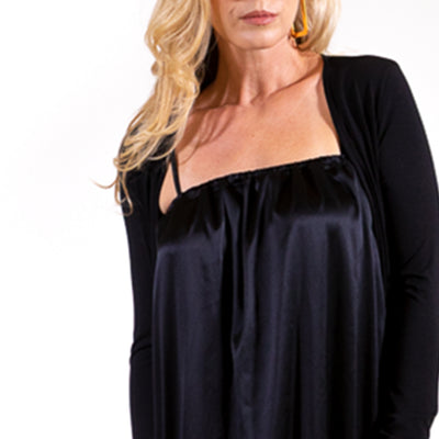 clothing made in us black silk dress