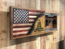 Load image into Gallery viewer, American Flag Handgun Cabinet