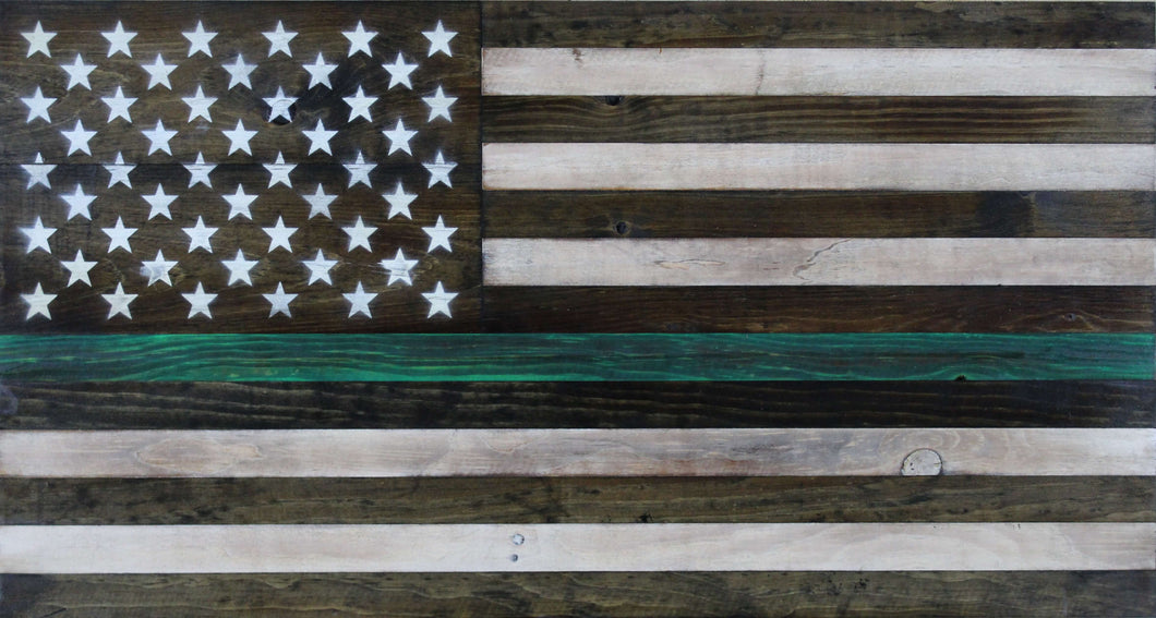 The Thin Green Line Flag