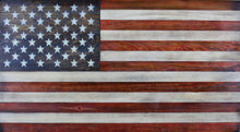 Load image into Gallery viewer, Rustic wooden American flag