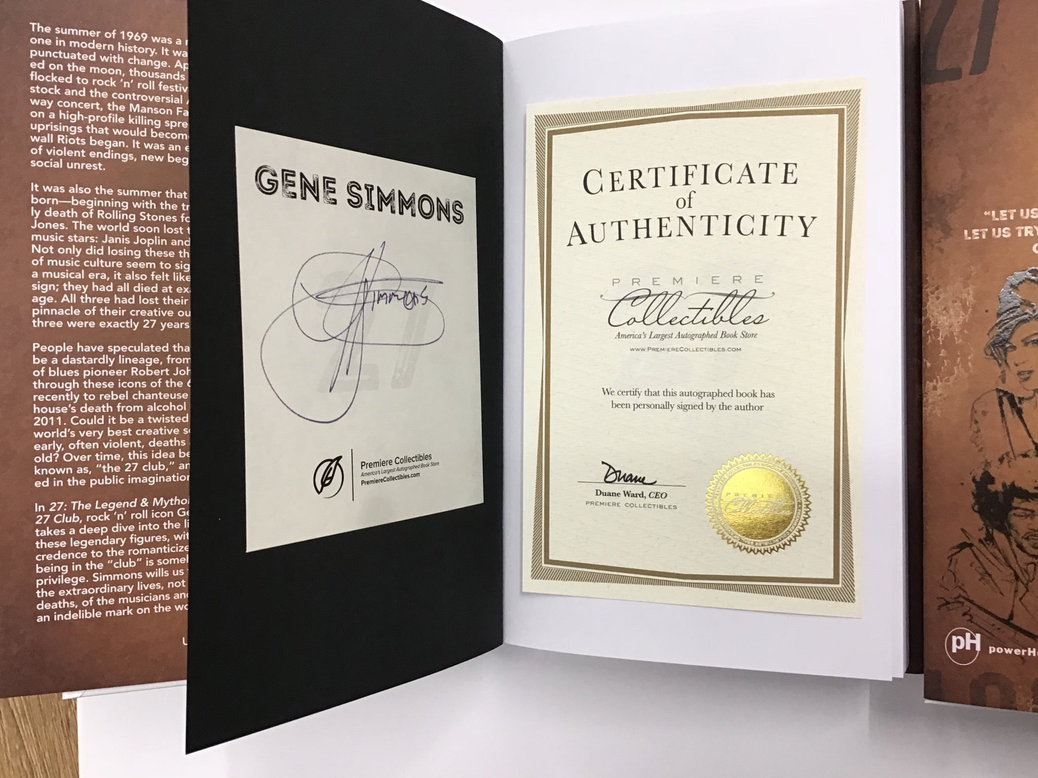 Signed Kiss Gene Simmons autographed limited edition book Picture - Magical Emporium