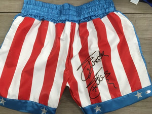 Sylvester Stallone Signed Rocky Boxing Trunks Picture - Magical Emporium