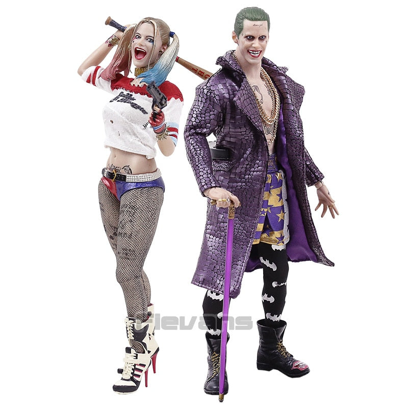 Crazy Toys Suicide Squad Joker / Harley Quinn 1/6 th Scale Collectible Figure Model Toy Picture - Magical Emporium