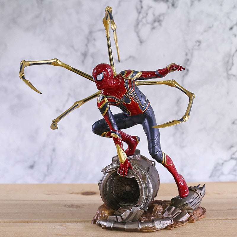 Marvel Avengers Infinity War Iron Spider Statue Spiderman PVC Action Figure Collectible Model Superhero Toy Doll - Magical Emporium