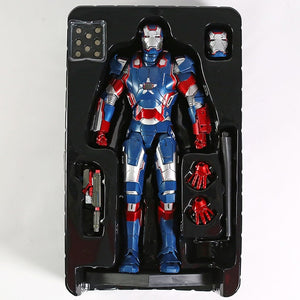 Hot Toy Marvel Iron Man 3 Iron Patriot 1/6 Scale Figure Collectible PVC Model Toy with LED Light Picture - Magical Emporium