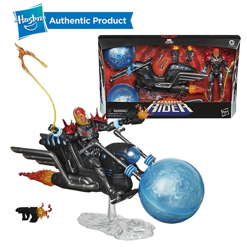 Hasbro Marvel Legends Vehicle Series 6-inch Cosmic Ghost Rider & Unbeatable Squirrel on Scooter Collectible Action Figure Toy Picture - Magical Emporium