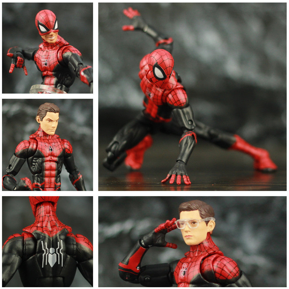 "Spider-Man Far From Home Tom Holland 6"" Action Figure Iron Man Edith Glasses Spiderman Peter Parker KO's Marvel Legends Toys Picture - Magical Emporium"