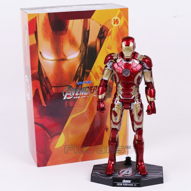 Hot Toys Avengers  Iron Man Mark MK 43 with LED Light PVC Action Figure Collectible Model Toy Picture - Magical Emporium