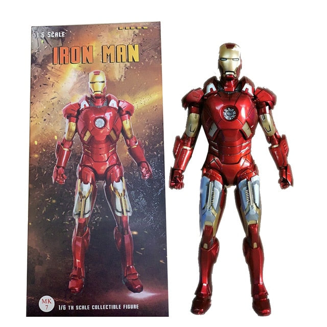 Crazy Toys Action Figure Iron Man Action Figures MK50 Tony Stark Mark50 Iron Man mk47 MK42 MK7 MK46 MK45 Toy Gift For Christmas Picture - Magical Emporium