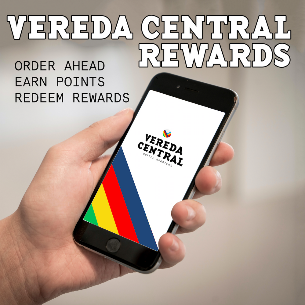 Vereda Central Mobile App Rewards Specialty Coffee Oakville