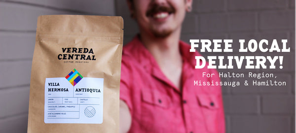 Vereda Central Free Local Delivery Gourmet Colombian Coffee Oakville