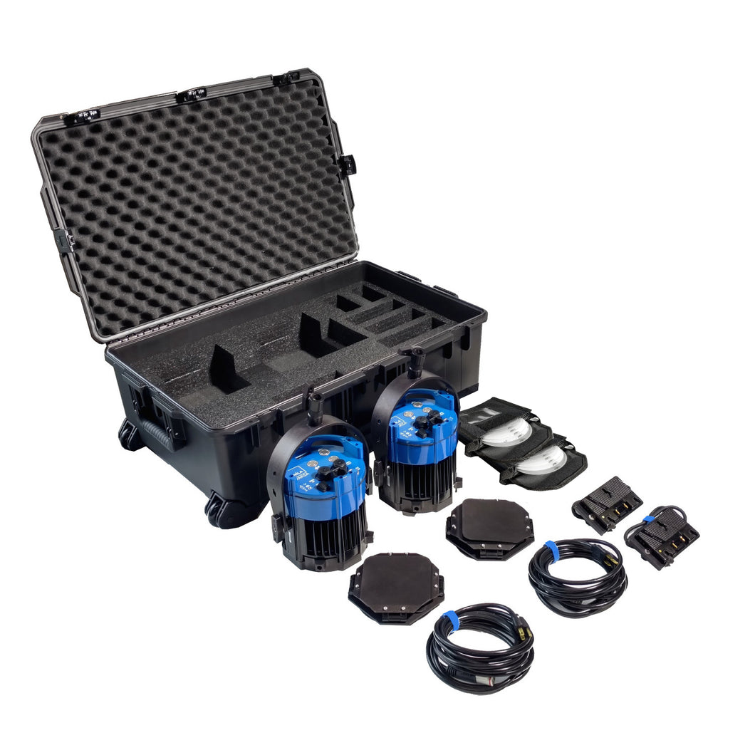 Double Varsa Broadcast Plus Kit - BI-COLOR (incl. case & gold-mount adapters)