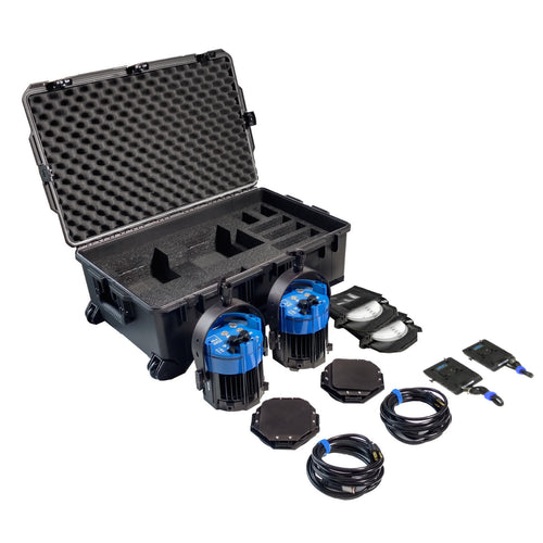 Double Varsa Broadcast Plus Kit - BI-COLOR (incl. case & v-mount adapters)