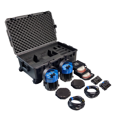 Double Varsa Broadcast Plus Kit - DAYLIGHT (incl. case & gold-mount adapters)