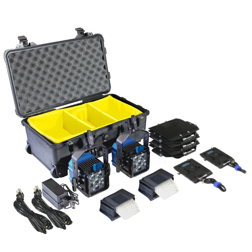 Zaila Double Broadcast Plus Kit - BI-COLOR (incl. case & V-mount adapters)
