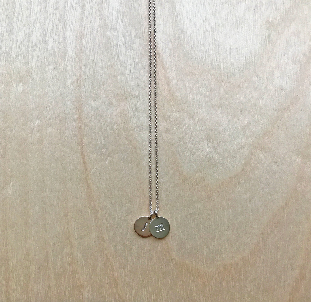 Double Initial Necklace (Small)