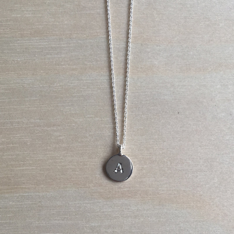 Single Initial Necklace (Small)