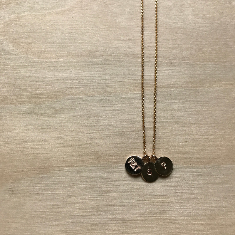 Triple Initial Necklace (Small)