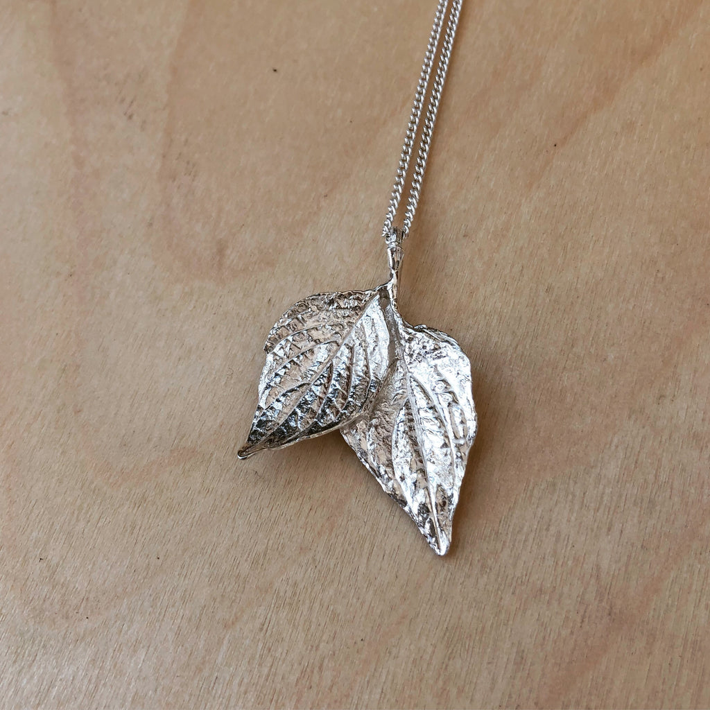 Twin Leaf Necklace