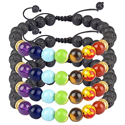 Magnetic Therapy Bracelet Weight Loss for Women Men Sacred Arrow Lava Stone