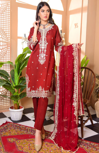 DILKASH-Festive Embroidered Lawn'21 Saqafat By Mak
