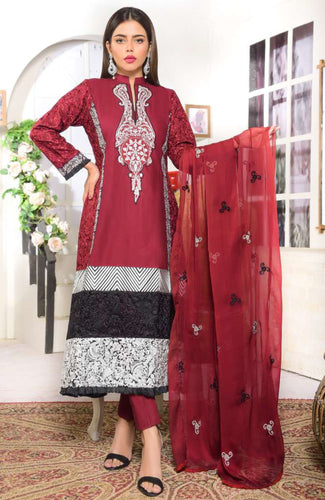 Nashr-e-Mukarrar Formal Embroiddered Lawn'21 By Saqafat