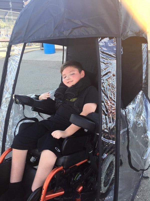 Wheelchair Accessible Personal Pop-Up Shelter