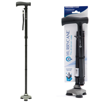 HurryCane Freedom Edition Folding Walking Cane